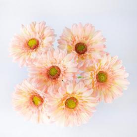 Цветок искусственный Гербера розовая 60см
