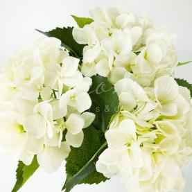 Квітка штучна Гортензія біла 53см