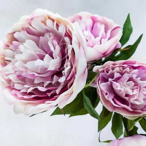 Цветок искусственный Пион розовый 70см