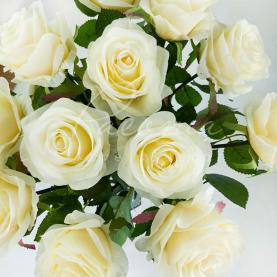 Квітка штучна Роза біла 65cm