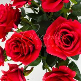 Цветок искусственный Роза красная 75 см