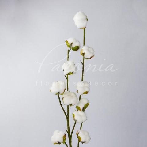 Цветок искусственный хлопок 88см