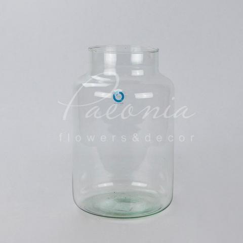 Ваза скляна прозора Belmont Ø19см H30см