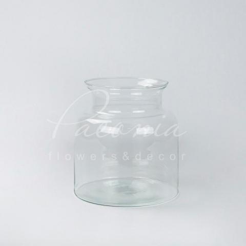 Ваза скляна прозора Ø18,5*14,5см H20см