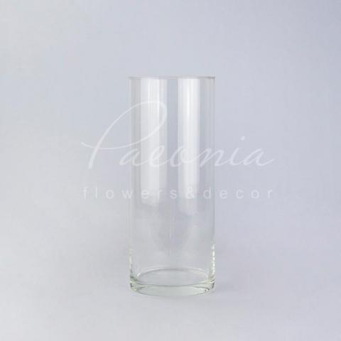 Ваза скляна прозора циліндр Ø 12см H 31,5см