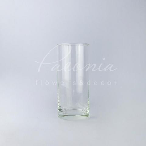 Ваза скляна прозора циліндр Ø11см H26,5 см