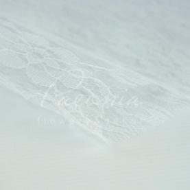 Гипюр Флористичний листовий 50см*50см білий