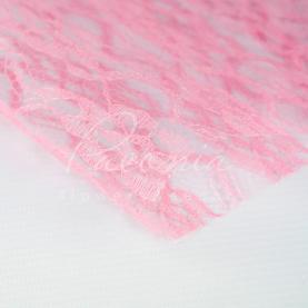 Гипюр Флористичний листовий 50см*50см рожевий