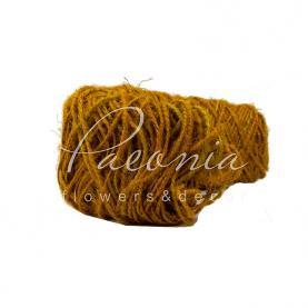 Шнур декоративний джутовий жовтий 2,00 мм