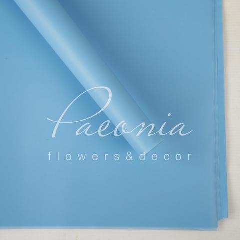Калька флористическая 60*60см матовая голубая 1 лист