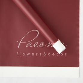Калька флористична листова з широким кантом бордова 60см * 60см