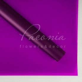Калька флористична напівпрозора листова фіолетова 60см * 60см