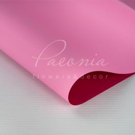 Калька флористическая двухсторонняя матовая листовая фуксия-розовая 60см*60см