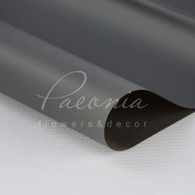 Калька Флористична листова 60см*60см матова з кантом пунктир косой сірий з чорним