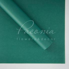 Калька флористическая матовая листовая плотная зеленая 60см*60см