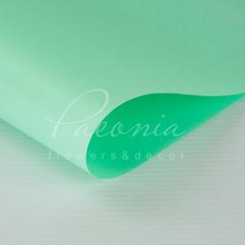 Калька флористична матова листова щільна м'ятна 60см * 60см
