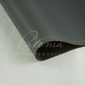 Калька флористическая матовая листовая с кантом серая 60см*60см