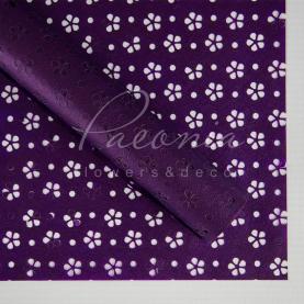 Калька флористична матова листова з перфорацією фіолетова 60см * 60см
