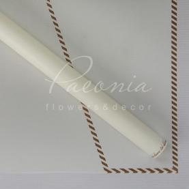 Калька Флористична листова 60см*60см матова з принтом конверт білий