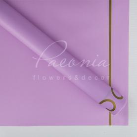 Калька Флористична листова 60см*60см матова з візерунковим кантом лавандовий