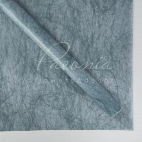 Калька флористична матова листова флізелін сіро-блакитна 60см * 60см