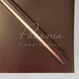 Калька флористическая листовая 60см*60см металлизированная шоколадный