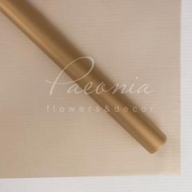 Калька Флористична листова 60см*60см напівпрозора матова золотий