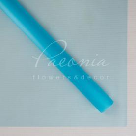 Калька флористична матова напівпрозора листова світло-блакитна 60см * 60см