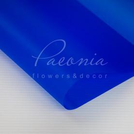 Калька флористична матова напівпрозора листова синя 60см * 60см