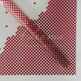 Калька флористична напівпрозора листова з принтом винні точки 60см * 60см