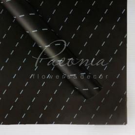 Калька флористична прозора листова з принтом білі штрихи 60см * 60см