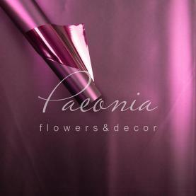 Калька флористична матова металізована листова двостороння темно-фіолетова 60см * 60см