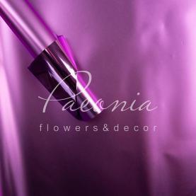 Калька флористична матова металізована листова двостороння фіолетова 60см * 60см