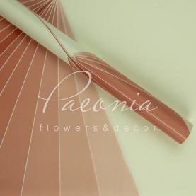 Калька Флористична листова матова пудровий спектр 60см*60см