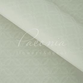 Калька флористична матова листова з тисненням біла 60 * 60