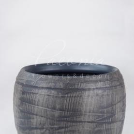 Кашпо керамічне в смужку Ø11см h17см