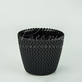 Кашпо пластикове антрацит Splofy DSP160 L Ø15,7см h13,2см