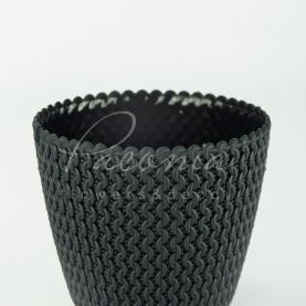 Кашпо пластикове антрацит Splofy DSP300 L Ø29,5см h24,9см
