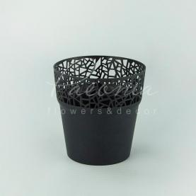 Кашпо пластикове антрацит TREE DTRE120L Ø12см h12,2см