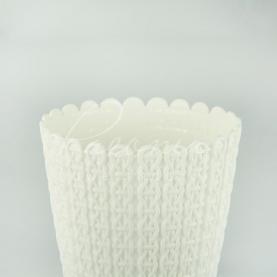 Кашпо пластикове біле NITLY DNY190L Ø18,8см h15,8см