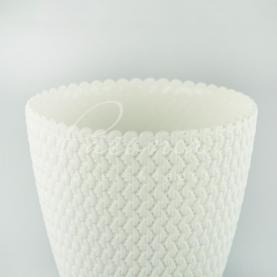 Кашпо пластиковое белое Splofy DSP190 L Ø18,7см h15,8см