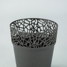 Кашпо пластикове графіт NATURO DNAT120L Ø12см h12,2см