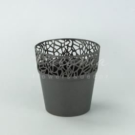 Кашпо пластикове графіт NATURO DNAT175L Ø17,5см h17,9см