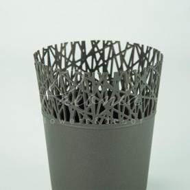 Кашпо пластиковое графитовое CITY DCIT160L Ø16см h18,3см
