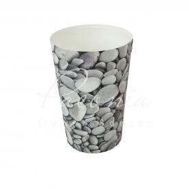 Кашпо пластикове камни Ø11см h17см
