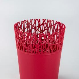 Кашпо пластиковое красное CITY DCIT160L Ø16см h18,3см