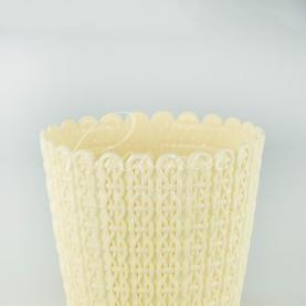 Кашпо пластикове кремове NITLY DNY130L Ø12,8см h10,9см