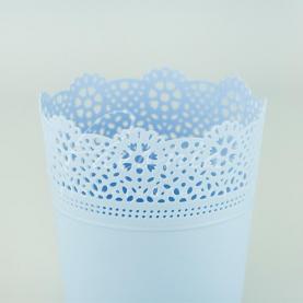 Кашпо пластиковое небесно-голубое LACE DLAC160 L Ø16см h18,5см