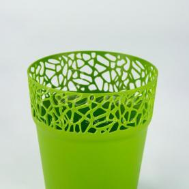 Кашпо пластиковое оливковое NATURO DNAT145L Ø14,5см h14,8см