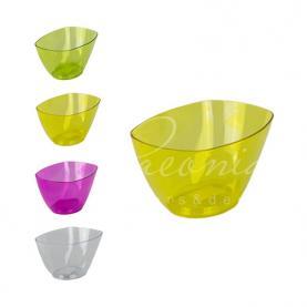 Кашпо пластикове прозоре жовте COUBI ORCHID DUMS200P 19,8*13*10,2см